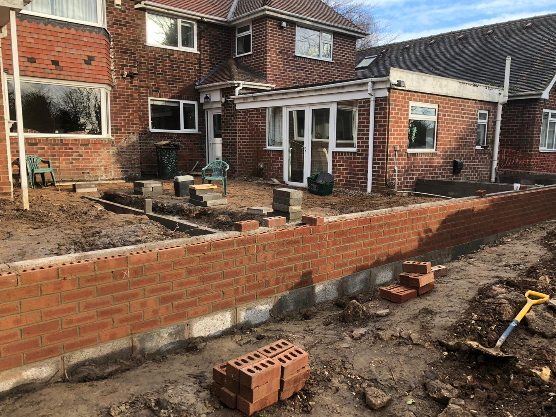 The-extension-walls-being-built