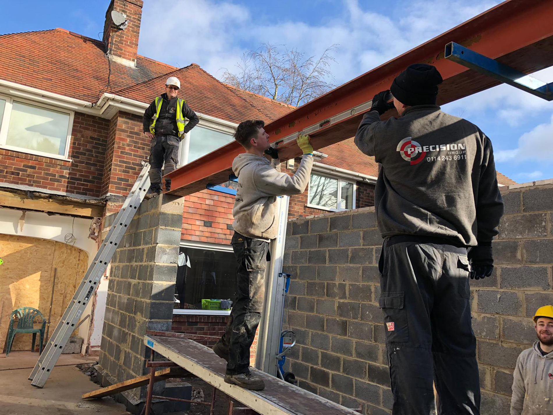 Installing-Structural-beams